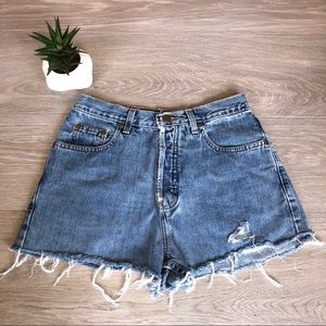 Eddie Bauer High Waisted Vintage Jean Shorts